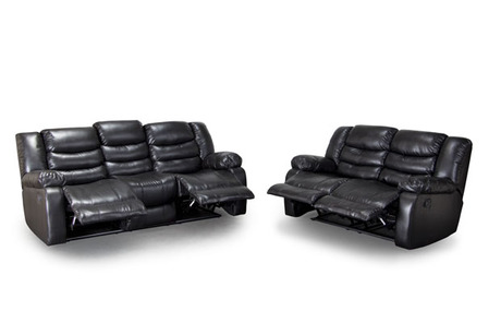 Reclining Sofa Loveseat In Black El Paso Tx Auctions Seize The Deal