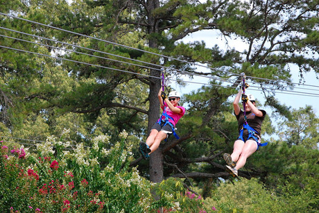 Zipping Adventure for Two People at Zip Nac