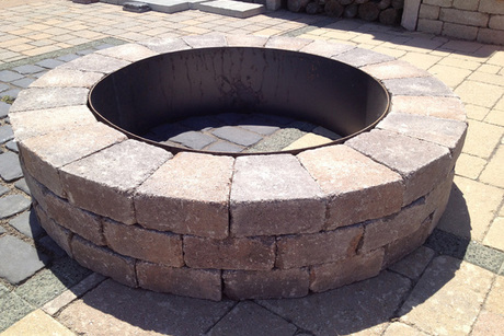 Unilock Round Fire Pit From Rock Bottom Stone Supply - Unilock Round Fire Pit From Rock Bottom Stone Supply Flint, MI