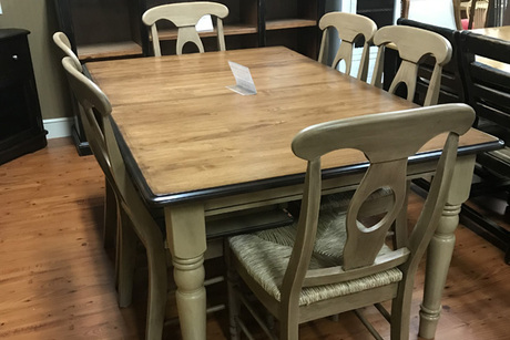 Table Set From Bare Wood Furniture