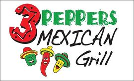 3 peppers logo