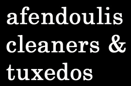 Afendoulis Cleaners & Tuxedos